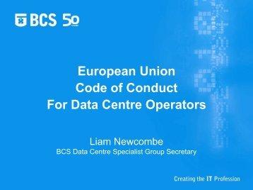 European Union Code of Conduct For Data Centre Operators