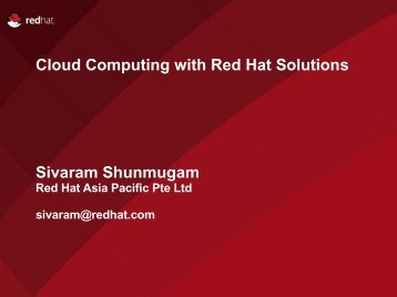 Cloud Computing with Red Hat Solutions ... - Open Grid Forum