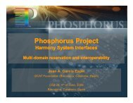 Phosphorus Project - Harmony System Interfaces - Open Grid Forum