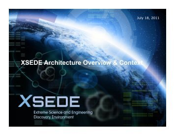 XSEDE Architecture Overview & Context