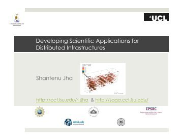 Developing Scientific Applications for Distributed ... - Open Grid Forum