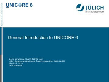General Introduction to UNICORE 6