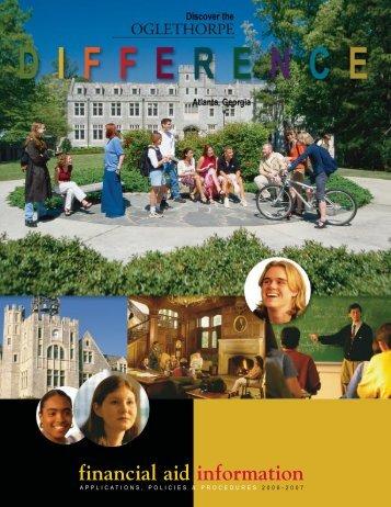 financial aid information - Oglethorpe University