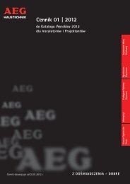 Cennik AEG - Eltom