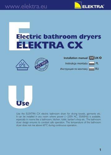 ELEKTRA CX - Ogrzewanie Elektryczne