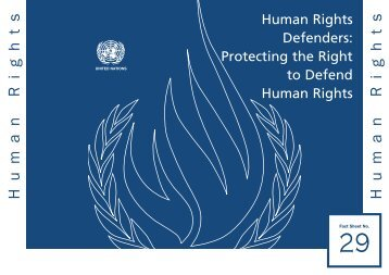 Human Rights Human Rights Defenders - Office of the High ...