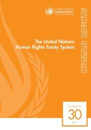 Factsheet n.30: The United Nations Human Rights Treaty System