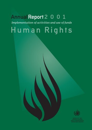 Annual Report 2001 - Office of the High Commissioner for Human ...