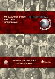 united against racism: dignity and justice for all - Office of the High ...