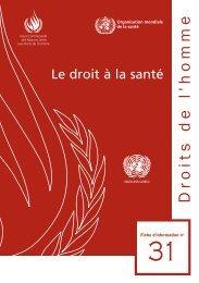 Droit à la santé - Office of the High Commissioner for Human Rights