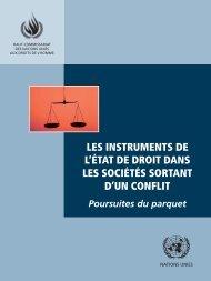 les instruments de l'état de droit dans les sociétés sortant d'un conflit