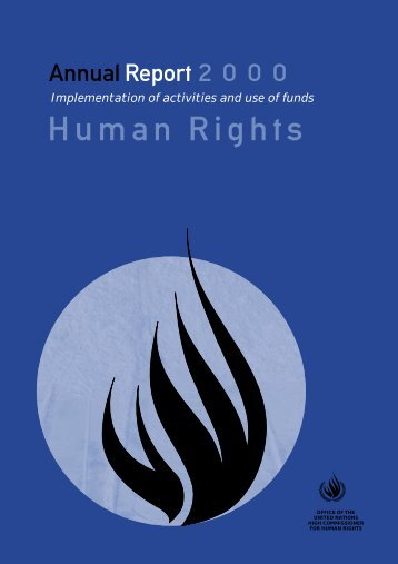 Annual Report 2000 - Office of the High Commissioner for Human ...