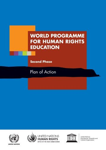 world programme for human rights education - Office of the High ...