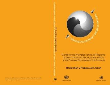 Declaración y Programa de Acción - Conferencia Mundial contra el ...