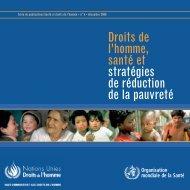 Droits de l'homme, santé et stratégies de réduction de la pauvreté