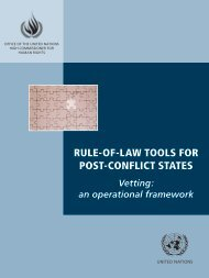 Rule-of-law tools for post-conflict states : vetting - Office of the High ...