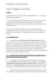 Troisième partie : La fonction de monitoring Chapitre 5 - Office of the ...