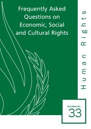 Frequently Asked Questions on Economic, Social and Cultural Rights