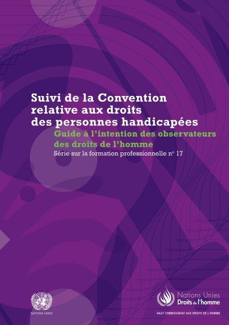 Suivi de la Convention relative aux droits des personnes handicapées
