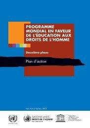 programme mondial en faveur de l'éducation aux droits de l'homme