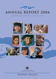 annual report 2004 - Office of the High Commissioner for Human ...
