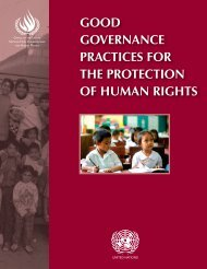 good governance practices for the protection of human rights