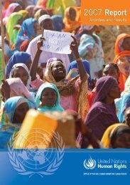 OHCHR Report 2007 - Office of the High Commissioner for Human ...