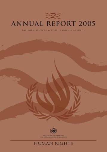 annual report 2005 - Office of the High Commissioner for Human ...