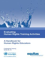 Evaluating Human Rights Training Activities - Office of the High ...