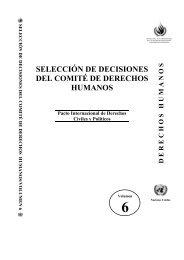 selección de decisiones del comité de derechos humanos