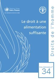 Droit à une alimentation suffisante - Office of the High Commissioner ...