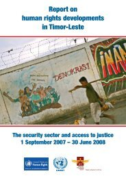 Report on human rights developments in Timor-Leste - Office of the ...