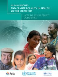 Human rights and gender equality in health sector strategies
