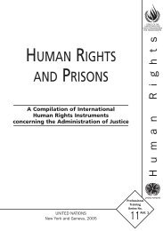 human rights and prisons - Office of the High Commissioner for ...
