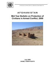 Mid Year Bulletin on Protection of Civilians in Armed Conflict - Unama