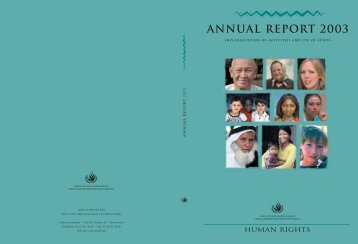 annual report 2003 - Office of the High Commissioner for Human ...