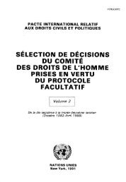 sélection de décisions du comité des droits de l'homme prises en ...