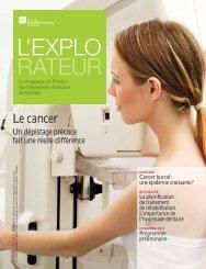 Le cancer - Ordre des hygiénistes dentaires du Québec