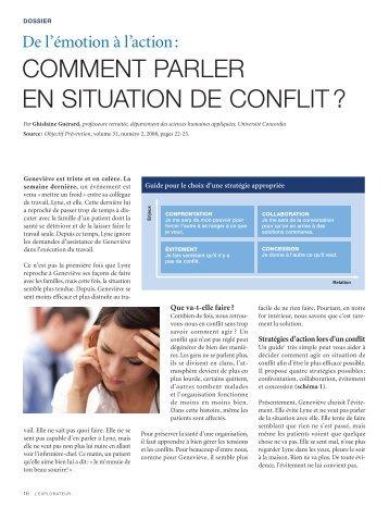 COMMENT PARLER EN SITUATION DE CONFLIT ?