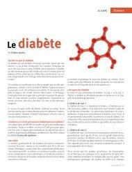 Le diabète - Ordre des hygiénistes dentaires du Québec