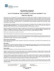 2012 provincial conventi - Ordre des hygiénistes dentaires du Québec