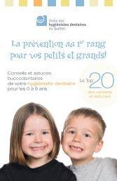 Brochure en français - Ordre des hygiénistes dentaires du Québec