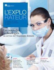 Les nouvelles technologies - Ordre des hygiénistes dentaires du ...