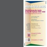 Verstrickung der Justiz in das NS-System 1933-1945 - Philipps ...