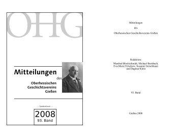 Beitrag lesen... (pdf) - Oberhessischer Geschichtsverein Gießen eV