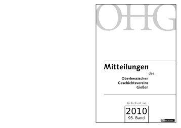 lesen... - Oberhessischer Geschichtsverein Gießen eV