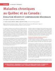 Maladies chroniques au Québec et au Canada :