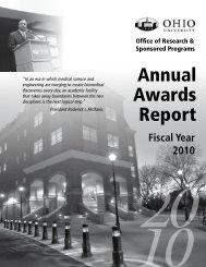 Fiscal Year 2010 Annual Awards Report - Ohio University