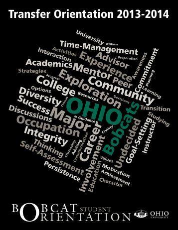 Transfer Student Fall Semester Orientation brochure - Ohio University