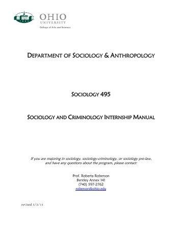 department of sociology & anthropology - Ohio University